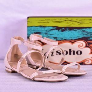 Zigi Sogo Pamina Nude Ankle Strap Flat Sandals